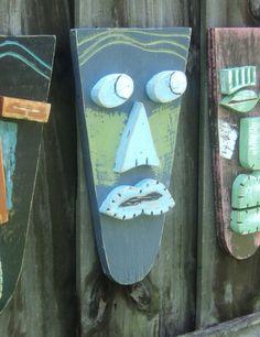 Tiki Bar Tiki Man Wood Sculpture Tiki Mask