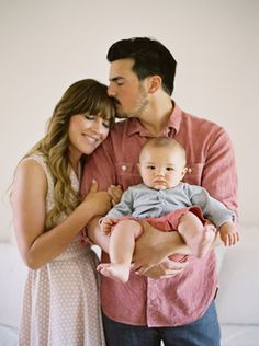 Love this sweet family pose.    Jose Villa Photography