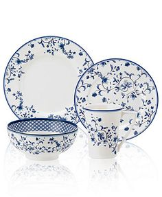 Spode Dinnerware, Blue Portofino Collection from Macy's