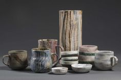 Ceramics from The Language of Line Exhibition at China Clay Clovelly