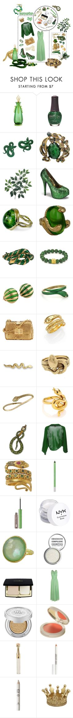 """""""Serperior"""" by ck0427 ❤ liked on Polyvore featuring The Merchant Of Venice, SpaRitual, Monki, Satya Jewelry, Bordello, Serena Fox, Trifari, Tiffany & Co., Tom Ford and Temple St. Clair"""