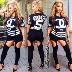 Pretty Girl Swag Coco Chanel TShirt Designer Fashion Urban Streetwear Style Leggings Louboutin Pigalle Dope MsBoss4U