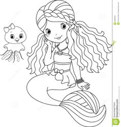MERMAID COLORING PAGES | Coloring Pages For Kids | Pomysły ...
