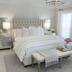 25 Exquisitely Admirable Modern French Bedroom Ideas To Steal. modern french bedroom Check out these fascinating modern French bedroom ideas to bring the style of your home to a whole new level! Master Bedroom Design, Dream Bedroom, Home Decor Bedroom, Bedroom Designs, French Bedroom Decor, Bedroom Decor Elegant, Master Bed Room Ideas, Beds Master Bedroom, Bedroom Sets