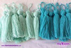Borlas por pedido, colores y medidas a eleccion, de hilo, lana y otros materiales, myvioletdesigns.com