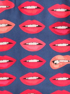 I love the lip designs that show teeth......don't know why! It is the way that I like to draw them as well. For example https://www.dusteddreams.com/collections/unisex/products/dripping-lips-womens-fleece-letterman-jacket Lip Prints, Lipstick, Lips , Lip Decor, Red Lips, Denim Print