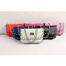 Fashion Women Messenger Bag PU Leather Crossbody Satchel Shoulder Handbag