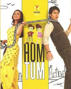 14 Years of Hum Tum; Hum Tum is a 2004 romantic comedy film directed by Kunal Kohli and produced by Aditya Chopra and Yash Chopra under their Yash Raj Films banner. The movie stars Saif. Movies To Watch Hindi, Hindi Movies, Ta Ra Rum Pum, Yash Raj Films, Download Free Movies Online, Rani Mukerji, Bollywood Posters, Saif Ali Khan, Movies