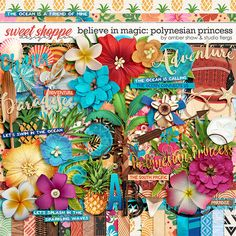 Disney Moana inspired digital scrapbooking & clip art #flergs #studioflergs Believe in Magic:  Polynesian Princess by Amber Shaw & Studio Flergs