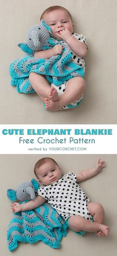 Cute Elephant Blankie Free Crochet Pattern Elephant Baby Blanket for hugs! #freecrochetpatterns #crochetblanket #elephants