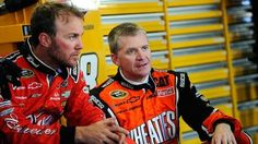 Kevin Harvick (Left) and Jeff Burton (Right)