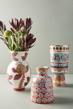 Buy Anthropologie Elza Large Vase, Purple/Multi from our Vases range at John Lewis & Partners. Pottery Painting, Ceramic Painting, Ceramic Vase, Ceramic Pottery, Pottery Art, Hand Painted Pottery, Slab Pottery, Thrown Pottery, Pottery Studio
