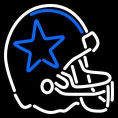 Dallas Cowboys Helmet 1960 1963 Logo NFL Neon Sign 16x16