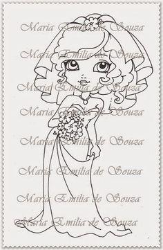 Mari Digis Store: M48-Noiva Buquet de flores