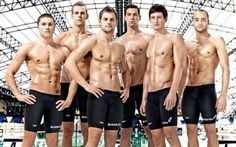 British swimming team. With their business suits on.<3333