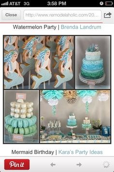 Mermaid party.  This has been AC's favorite so far.  And this is probably the easiest cake to decorate of all the ones I've seen!