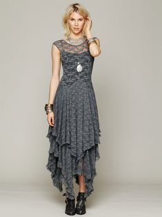 Vintage Lace Dress, available in grey, black, green, red and beige.