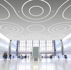 Linear Recessed LED Ceiling Light Fixture In Modular Lighting System Design For Hall Interior Lighting Ideas
