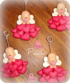 Souvenir bebe con corazones para baby shower o primer añito