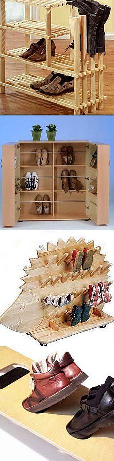 Деревянная полка для обуви: традиции и новый дизайн - Учимся Делать Все Сами