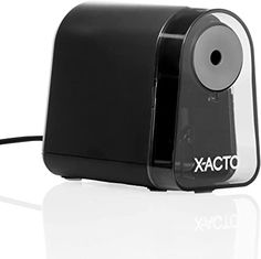 Amazon.com : X-ACTO Pencil Sharpener | Mighty Mite Electric Pencil Sharpener, With Pencil Saver, SafeStart Motor, Black, 1 Count : Office Products Electric Pencil Sharpener, Amazon Hacks, Hair Removal Machine, Taper Candles, Electric Motor, Birthday Photos, Baby Shower Games, Battery Operated, Glass Jars