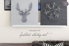 Mini Festive DIY String Art - Darby Smart