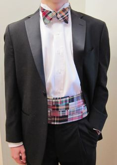 16a113d285d7 Best collection of Preppy Madras Plaid Bow tie and Cummerbund sets all  American Made