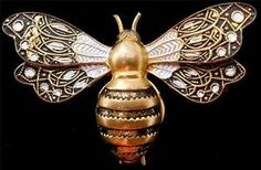 Vintage Bumble Bee Brooch Insect Damascene Figural Pin Enamel Toledo Ware Spain | eBay
