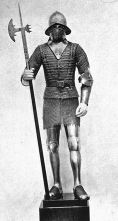 Spanish man-at-arms with pole-axe, 15thC.