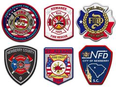 54 Best Fire Department Patches Images