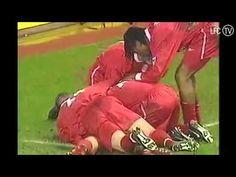 Steven Gerrard's first goal for LFC. He set the standard high from the start!