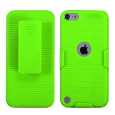MYBAT Hybrid Holster iPod Touch 5G/6G Case - Apple Green