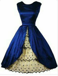 0ad06c8e80d6 Robes Vintage, Vintage Dresses, Vintage Outfits, 1950s Dresses, Vintage  Clothing, Vintage