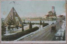 1919 Novara - Sobborgo Ossario ai caduti nella Battaglia del 23 marzo 1849 Proprietà Artistica Fratelli Miglio -Novara cartolina postale senza francobollo