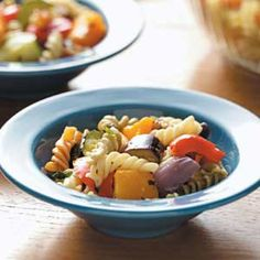 Roasted Veggie Pasta Salad Recipe from Taste of Home