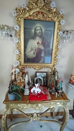 Home Altar, Faith, Frame, Home Decor, Altar Decorations, Altars, Hearts, Picture Frame, Decoration Home