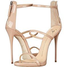 7152ecbf72227 Giuseppe Zanotti High Heel Back-Zip Three-Strap Sandal (Ver Blush) Women s  Shoes