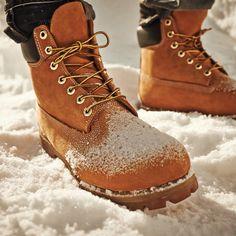 Water, snow, and slush proof. #timberland #yellowboot #snow #waterproof #timberlandboots