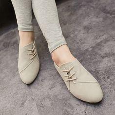 Mujer Zapatos Tejido Primavera Verano Otoño Confort Tacón Plano Con Cordón  Para Casual Negro Gris Amarillo d58814a3ef57