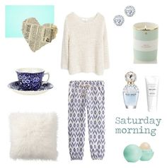 """""""Saturday morning"""" by brunalabate on Polyvore featuring Kate Spade, Pottery Barn, Burleigh, MANGO, Sundry, Kobelli, Marc Jacobs and Eos"""