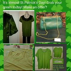 It's time to get your green! Make an offer. Shirts,shoes,purses, pants etc. Other