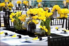 Sofisticada E Elegante A Decoração Em Amarelo Preto Confere Um Toque De Glamour Ao Seu Casamento Confira As Lindas Imagens Que Separamos Para Você