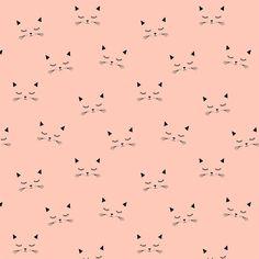 Jersey Cats blush 20 x 160 cm - Kimsa/Autres motifs - Motif Personnel