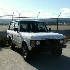 My 2-door Range Rover Classic at the airport