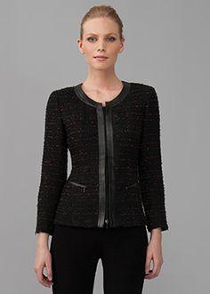 Flamenco Tweed Anastasia Jacket and Modern Slim Skirt | Lafayette 148 New York