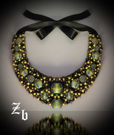 Yellow+green...#summer #socialite #gardenparty...statement necklace