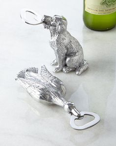 Labrador and mallard bottle openers