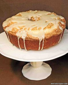Pound Cake with Maple Glaze