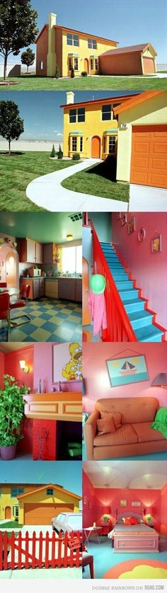 the Simpsons house real life ;) Cool!