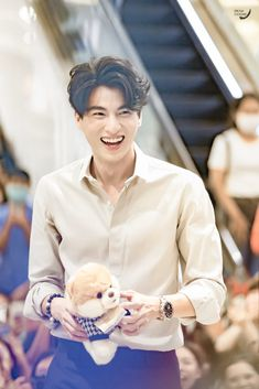 That toy looks like Mew's Chopper. Asian Actors, Korean Actors, Isak & Even, My Love From The Star, Asian Men Hairstyle, Young Cute Boys, Japanese Drama, Thai Model, Thai Drama